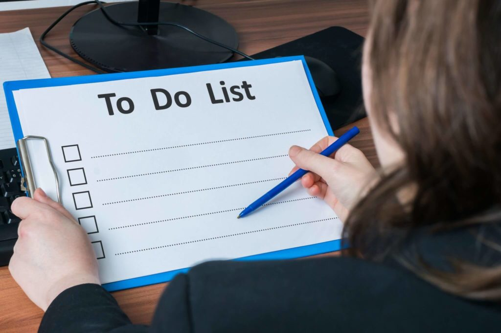 Jot down all tasks that pop into your head