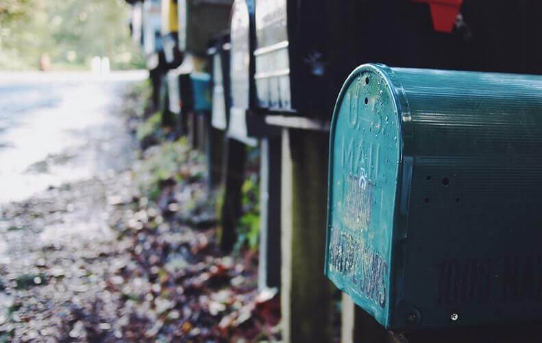 An image of mailboxes
