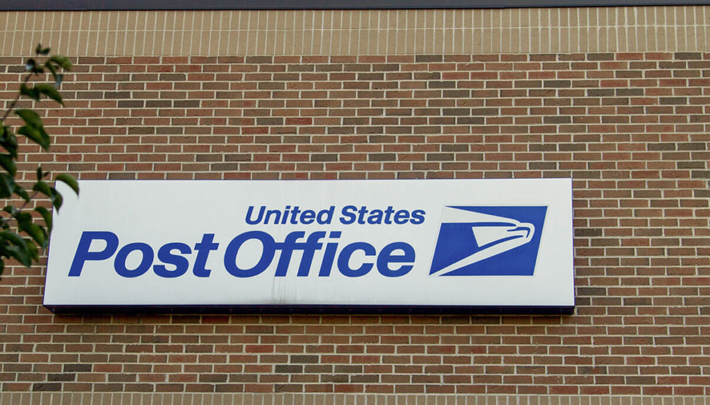 A sign of USPS